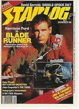 HARRISON FORD HAND SIGNED 1993 STARLOG #28 - BLADE RUNNER