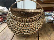 Vintage Handmade Reed Basket