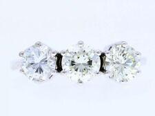 vintage Goldring Ring 1,60 Karat Solitär Brillanten 750 Gold 18 Karat