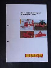0077) NIEMEYER Bodenbearbeitung - Prospekt Brochure 03.1992