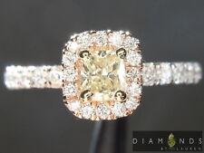.32ct U-V SI2 Cushion Cut Diamond Halo Ring GIA R5478 Diamonds by Lauren