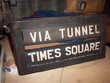 VINTAGE NYC SUBWAY SIGN COMPLETE ROLL SIGNS ORIGINAL BOX BMT STANDARD NY TRANSIT