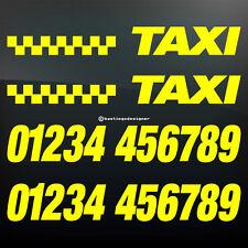 CUSTOM Taxi numero telefono economia la pubblicità di automobili Signwriting Vinile Adesivo Decalcomania
