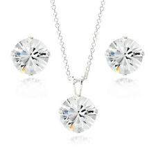 Sterling Silver Swarovski Elements Necklace & Stud Earrings Set