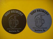 Beer Brewery Coaster ~*~ SURF Brewery ~*~ Ventura, CALIFORNIA Brewing Since 2011