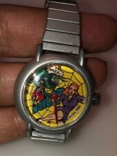 VINTAGE 1986 WONDER GIRL Woman AVION OUT OF TIME WIND UP WATCH Comic RARE WORKS