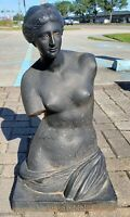 Mid 20th Century Cast Iron Venus de Milo Bust Sculpture Made in Italy