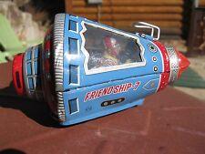Antique space capsule vintage tin toy japan Friendship 7 Robot driver
