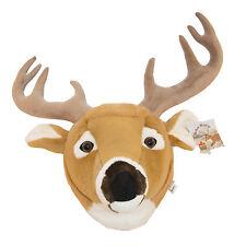 "Stuffed Animal House 11"" Whitetail Deer Plush Head Wall Toy Walltoy Hunting NWT"