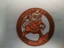 "Cleveland Browns Vintage Embroidered Iron On Patch RARE 3"" X 3"""