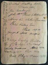 OLYMPIC GAMES PARIS 1924 GREAT BRITAIN WRESTLING TEAM AUTOGRAPH ALBUM PAGE