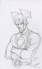 Walt Simonson - Marvel Comics - Loki - Original Sketch -  Hand Signed, 8.5 X 14