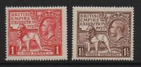 GB 1925 empire exhibition SG432-433 MNH unmounted mint set stamps cat £80