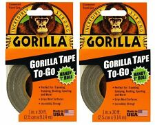 "Gorilla Duct Tape To-Go 2 Pack 1"" x 10 yd., Black"