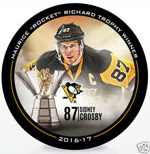 "SIDNEY CROSBY 2016-17 MAURICE ""ROCKET"" RICHARD TROPHY WINNER NHL HOCKEY PUCK"