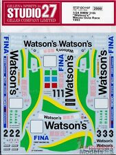 "1:24 1993 BMW 318i"" ""de Watson Macao carrera DECAL SET por STUDIO 27 ~ DC1107"