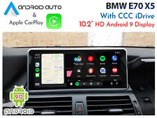 """BMW E70 X5 CCC iDrive - 10.2"""" Android 9.0 Display + CarPlay & Android Auto"""