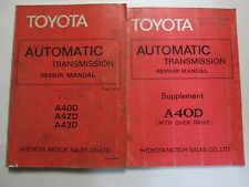 1978 Toyota AutomaticTransmission A40D A42D A43D Service Repair Manual Set OEM