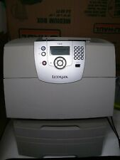 Lexmark T640 Workgroup Laser Printer double tray /No toner /only 3k page count