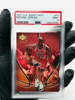 2007 UD Sweet Shot MICHAEL JORDAN #14 SERIAL #D /350 PSA 9 MINT