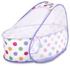 Koo-di POP UP BASSINET PASTEL POLKA Baby Travel Sleep BN