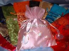 "Drawstring 7x10"" SILK SATIN Brocade Gift Pouch Dance Shoe Accessories Toy Bag"
