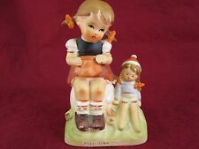"Vintage Erich Stauffer ""Play Time"" Figurine Girl with doll 55/1880"