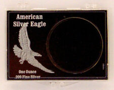 ASE Black Eagle - Embossed, 2X3 Snap Lock Coin Holders, 3 pack
