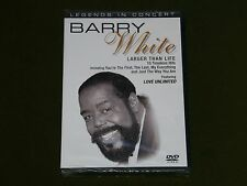 BARRY WHITE LEGENDS IN CONCERT RARE PERFORMANCE LIVE SONGS DVD New