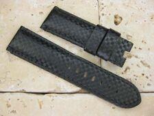 24mm Carbon Fiber Deployment Leather Strap Large Band PAM Extra Large LG L