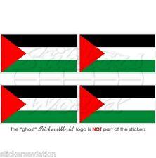 PALÄSTINA Flagge, Palästinensischen Staat Fahne Vinyl Sticker, Aufkleber 50mm x4