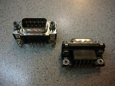 AMP 747840-6  D-Sub Connector Plug Front Mount Shell 9-Position R/A *NEW*  2/PKG