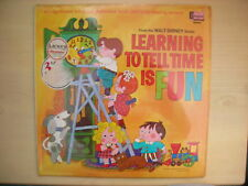 Disney Studio LEARNING TO TELL TIME IS FUN LP 1969 SEALED