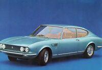 Cartolina pubblicitaria Fiat Dino Coupè anni 70