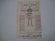advertising Pubblicità 1961 GANCI DA TRAINO PER RIMORCHI V. ORLANDI - BRESCIA
