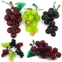 Nice Bunch Lifelike Artificial Grapes Plastic Fake Fruit Home Garden Decoration