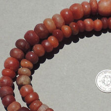21 inch 53.5 cm strand ancient carnelian calcite agate beads mali #3888