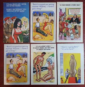 6 x Comic Saucy Seaside Postcards - Unused.. Good condition.