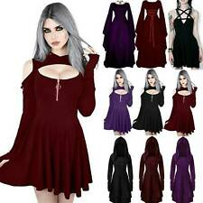 Women Halloween Gothic Medieval Dress Witch Party Cosplay Fancy Dress Costume