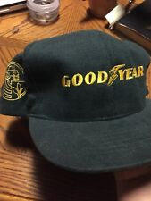 0bb0cbce4bf2d VTG GOODYEAR SWINGSTER MADE IN USA Snapback Olive Green Hat Nascar Rare Ford