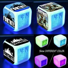 FORTNITE GAME Color Changing Night Light Alarm Clock Toy Game Gift For Boys Kids