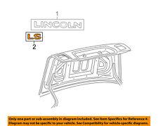 Lincoln FORD OEM 2004 LS Trunk Lid-Emblem Badge Nameplate 3W4Z5442528BA