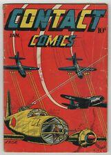 Contact Comics (1944) #4 LB Cole US Jets VS Japan Cover & Black Venus Art Good+