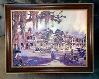"""Herb Ryman 21x27"""" Concept Art for New Orleans Square + Pirates of the Caribbean"""
