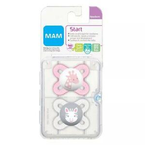 MAM Start Newborn Girl Pacifiers (2 pack, 1 Sterilizing Pacifier Case ) Best ...
