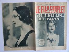 Le film complet du mardi n°1239- 1932 Allo Berlin ici Paris par Jacques Faure