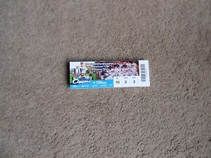 2018 Columbus Clippers Baseball Ticket Stub 3 Governors Cups 4 Division Titles