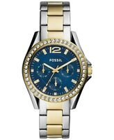 Fossil Women's Riley Two Tone Stainless Steel Bracelet Watch 38mm ES4734