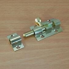 38mm Solid Brass Door Latch Barrel Bolt Safety Slide Lock Indoor Outdoor