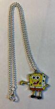 "Free Ornate Organza Gift Bag Fun SpongeBob 16"" Necklace Gift Boxed,"